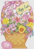 Easter Card-Basket With Spring Flowers